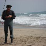 Pêche par mer agitée