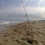 Pêche dorade par mer agitée