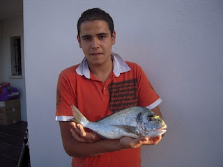 Dorades pêchés en juillet à Marseillan plage