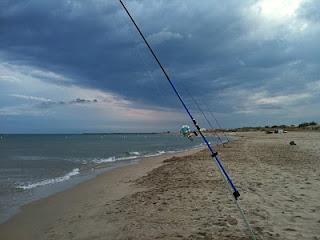 Pêche dorade sous l'orage